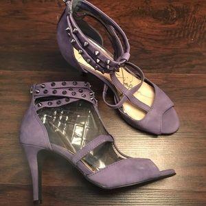 JESSICA SIMPSON MANIAH Purple Spiked Heels